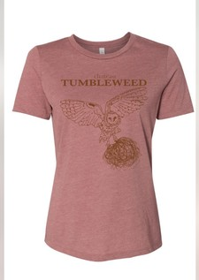 Owl Tee Mauve Ladies